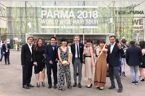 2018年、イタリアの美容メーカー ダヴィネス社から招待を受け、イタリア・パルマにつくられた33,000平米のダヴィネス・ヴィレッジお披露目イベントに出席。