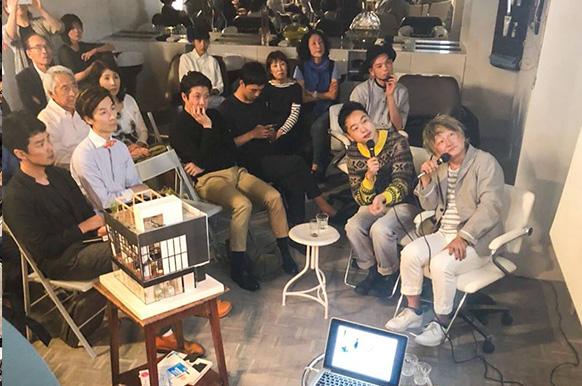 boy Tokyoの内装を手掛けてくださったトラフ建築設計事務所の共同主宰 鈴野浩一さんを迎えて、boyの茂木、江澤、Daiとともに、boy Tokyoができるまでのトークイベントを開催。