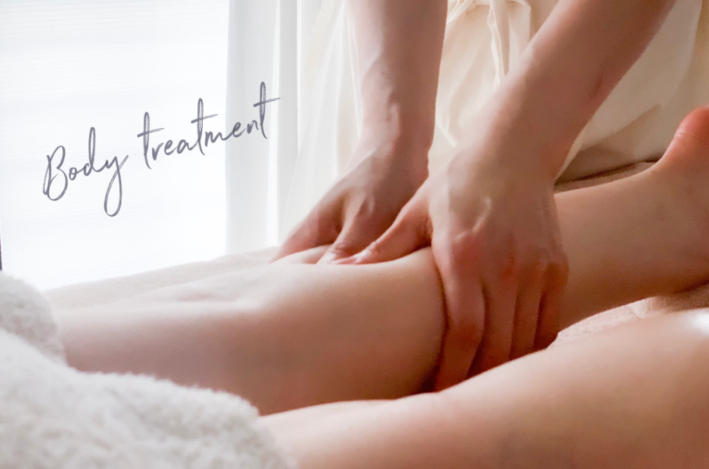 【メニュー紹介】Body treatments with aroma oil
