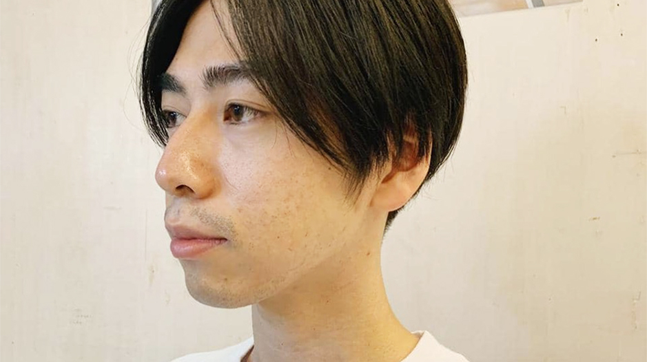 【滑川】大人気!センター分けメンズヘア!